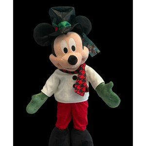 New Disney Mickey Mouse Christmas Holiday Door Porch Greeter White Sweater 24 in